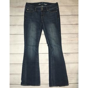 American Eagle Artist flared low rise jeans